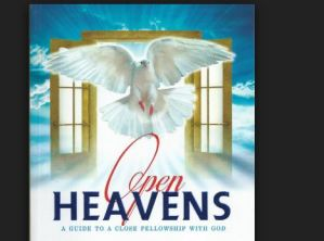 Open Heavens Daily Devotional For Today 9th October