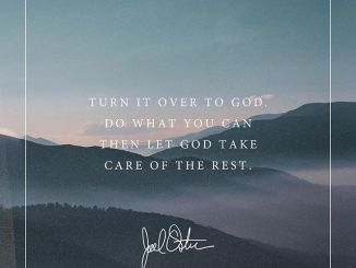Joel Osteen Daily Devotional Today 30th October