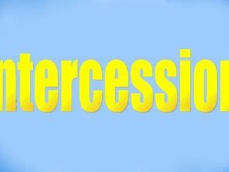 Prayer For Intercession