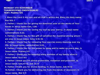 Open Heavens Devotional 4th November 2019