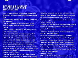Open Heavens Daily Devotional 2nd November 2019
