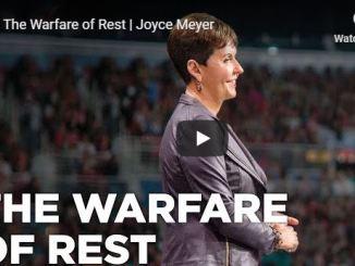 Joyce Meyer Sermon - Warfare rest