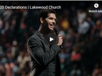 2020 Declarations By Lakewood Church
