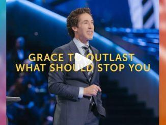 Joel Osteen Message - Grace to outshine