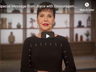 Joyce Meyer Message Coronavirus