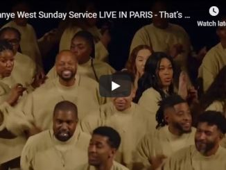 Kanye West Sunday Service In Paris