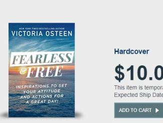 Victoria Osteen Book - Fearless and Free