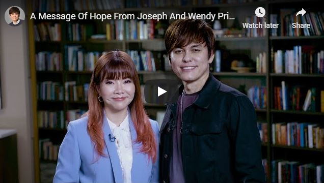 Message Of Hope From Joseph Prince And Wendy Prince
