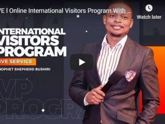Online International Visitors Program With Shepherd Bushiri