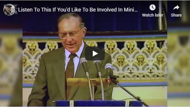 Derek Prince - Listen To This If You'd Like To Be Involved In Ministry