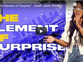 Pastor Sarah Jakes Roberts - The Element of Surprise