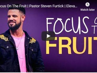 Pastor Steven Furtick Sermon - Focus On The Fruit - May 3 2020