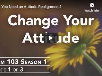 Rabbi Schneider Sermon - Do You Need an Attitude Realignment