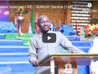 Apostle Johnson Suleman Sunday Live Service June 14 2020