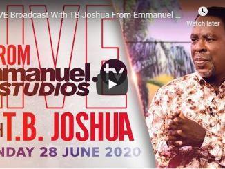 Prophet TB Joshua Live Sunday Service June 28 2020