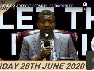 RCCG Sunday Live Service June 28 2020