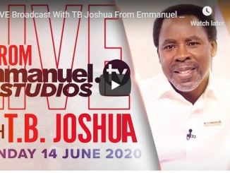 TB Joshua Sunday Live Service June 14 2020