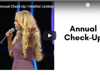 Heather Lindsey Sermon - Annual Check-Up - July 2020