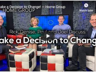 Home Group Sermon - Make a Decision to Change - July 2020