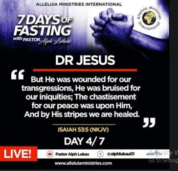 Day 4 of 7 Days Fasting With Alph Lukau – July 4 2020 – Alleluia Ministries