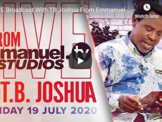 TB Joshua Live Sunday Service Today July 19 2020 In SCOAN