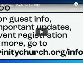 Trinity Church Cedar Hill Sunday Live Service July 12 2020