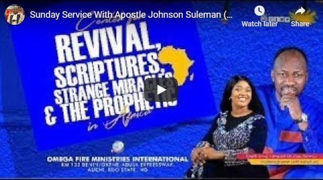 Apostle Johnson Suleman Sunday Live Service August 23 2020