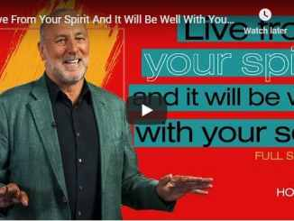 Brian Houston - Live From Your Spirit And It Will Be Well With Your Soul
