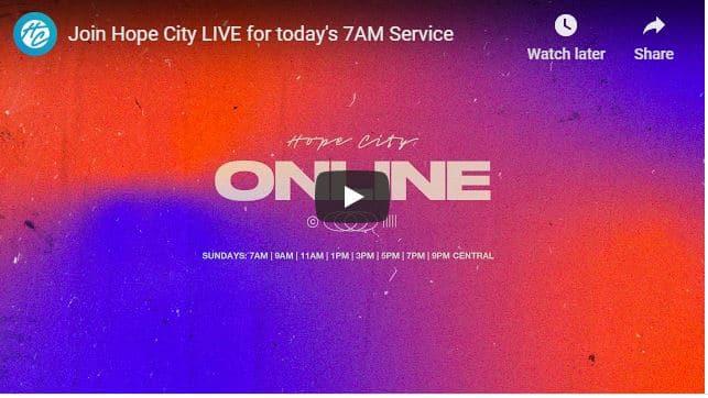 Hope City Church Sunday Live Service August 16 2020