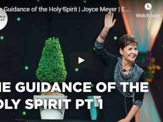 Joyce Meyer Sermon - The Guidance of the Holy Spirit