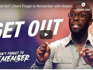 Pastor Robert Madu Sermon - Get Out - August 2020