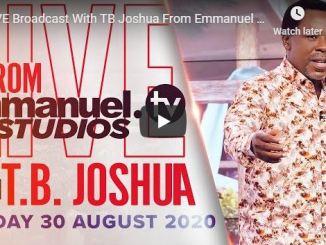 Prophet TB Joshua Sunday Live Service August 30 202