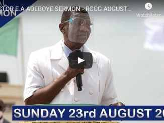 RCCG Sunday Live Service August 23 2020 With Pastor Adeboye