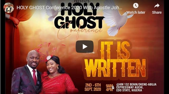 Apostle Johnson Suleman - Holy Ghost Conference 2020 Day 2