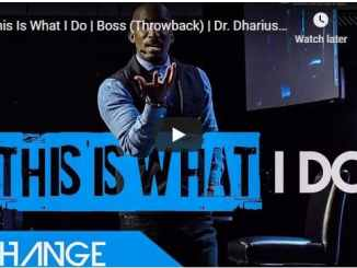 Dr. Dharius Daniels - This Is What I Do - September 29 2020