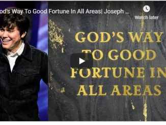Joseph Prince - God's Way To Good Fortune In All Areas - Sept 2020
