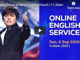 Joseph Prince at New Creation Church - Sunday September 6 2020