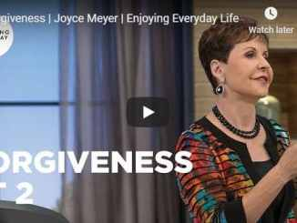 Joyce Meyer - Forgiveness