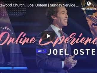 Lakewood Church Sunday Live Service September 20 2020