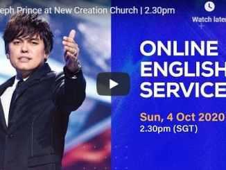 Joseph Prince Sunday Live Service October 4 2020