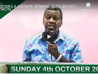 RCCG Sunday Live Service October 4 2020
