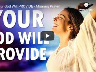 Sean Pinder Morning Prayer Sermon - Your God Will Provide