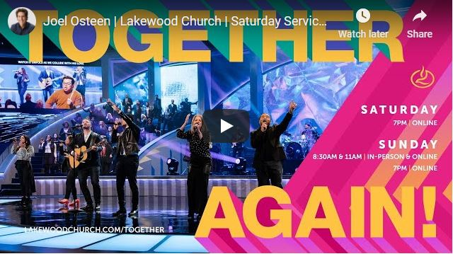 Joel Osteen Lakewood Church Saturday Service - November 21 2020