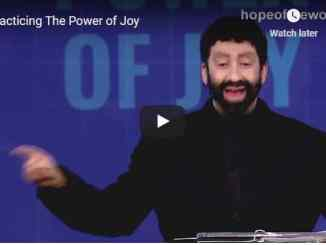 Jonathan Cahn Sermon - Practicing The Power of Joy