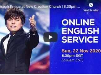Joseph Prince Sunday Live Service November 22 2020