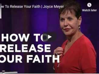 Joyce Meyer Sunday Message - How To Release Your Faith - November 22