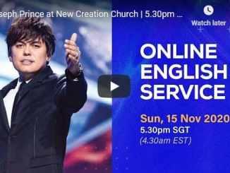 Pastor Joseph Prince Sunday Live Service November 15 2020