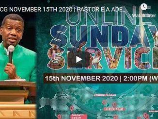 RCCG Sunday Live Service November 15 2020