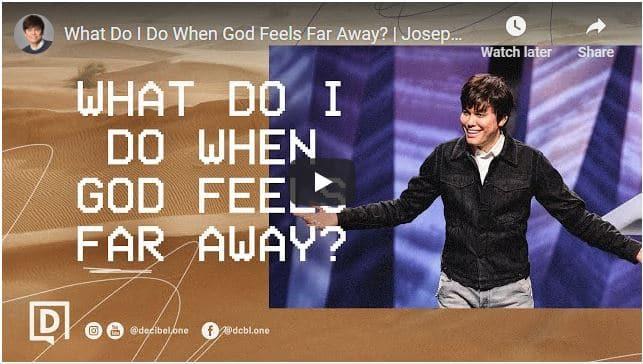 Joseph Prince Sermon - What Do I Do When God Feels Far Away