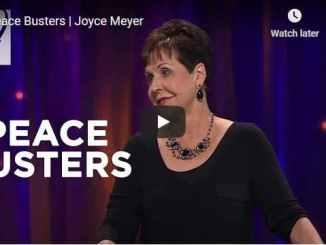 Pastor Joyce Meyer Sermon - Peace Busters